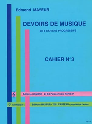 Edmond Mayeur - Duties of music n ° 3 - Partition - di-arezzo.co.uk
