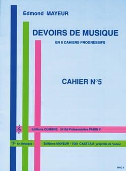 Edmond Mayeur - Devoirs de musique n° 5 - Partition - di-arezzo.fr