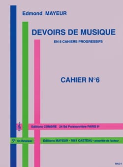 Edmond Mayeur - Duties of music n ° 6 - Partition - di-arezzo.com