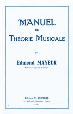 Edmond Mayeur - Manual of Music Theory - Sheet Music - di-arezzo.co.uk