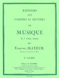 Edmond Mayeur - Answers to homework n ° 4 - Sheet Music - di-arezzo.co.uk