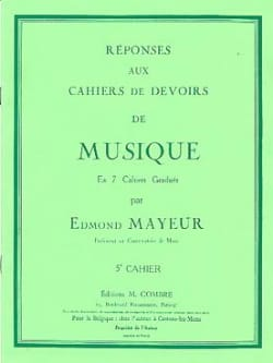 Edmond Mayeur - Réponses aux devoirs n° 5 - Partition - di-arezzo.fr