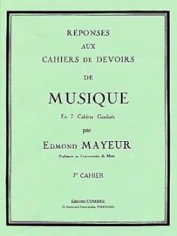 Edmond Mayeur - Réponses aux devoirs n° 7 - Partition - di-arezzo.fr