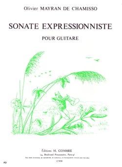 de Chamisso Olivier Mayran - Sonate expressionniste - Partition - di-arezzo.fr