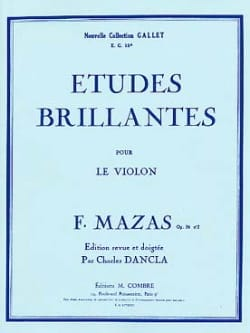 MAZAS - Etudes brillantes op. 36 n° 2 - Partition - di-arezzo.fr