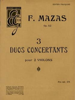 F Mazas - 3 Concertant Duets For 2 Violins - Sheet Music - di-arezzo.com