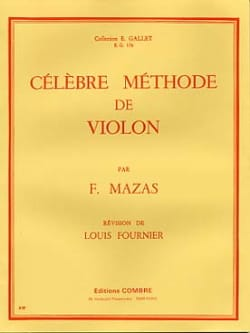 MAZAS - Famous Fournier violin method - Sheet Music - di-arezzo.com