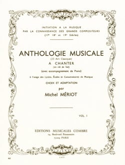 Anthologie Musicale Volume 1 Michel Meriot Partition laflutedepan