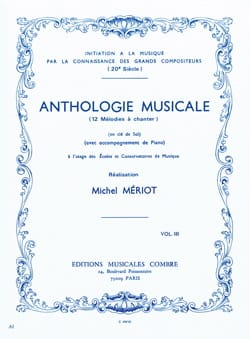 Anthologie musicale - Volume 3 Michel Meriot Partition laflutedepan