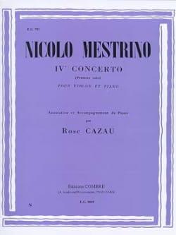 Nicolo Mestrino - 1er Solo du Concerto n° 4 - Partition - di-arezzo.fr