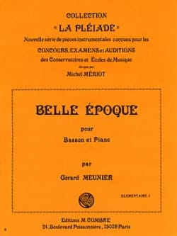 Gérard Meunier - Belle époque - Partition - di-arezzo.fr