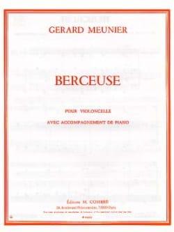 Berceuse Gérard Meunier Partition Violoncelle - laflutedepan