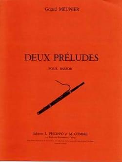 Gérard Meunier - Deux préludes - Partition - di-arezzo.fr
