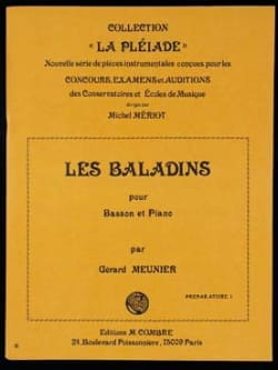 Les baladins Gérard Meunier Partition Basson - laflutedepan