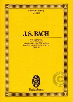 Johann Sebastian Bach - Cantate Also Hat Gott Die Welt Geliebt BWV 68 - Partition - di-arezzo.fr