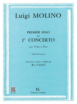 Luigi Molino - 1st Solo of the Concerto n ° 1 - Sheet Music - di-arezzo.co.uk