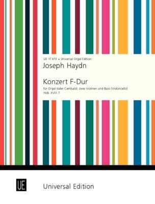 Konzert F-Dur Hob. 8 : 7 - Org. 2 Vln. Vc - Stimmen - laflutedepan.com