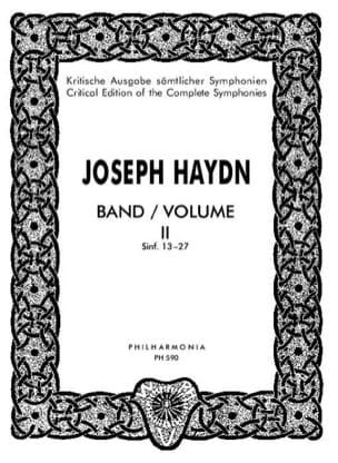 Joseph Haydn - Edition complete Symphonies - Volume 2 (13-27) – Score - Partition - di-arezzo.fr