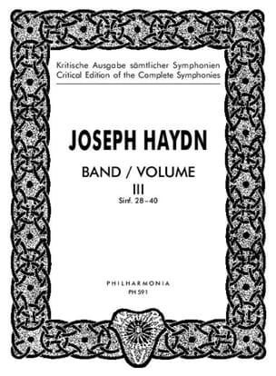 Edition complete Symphonies - Volume 3 (28-40) – Score - laflutedepan.com