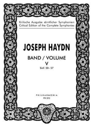 Joseph Haydn - Edition complete Symphonies Volume 5 (50-57) – Score - Partition - di-arezzo.fr