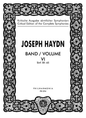 Edition complete Symphonies Volume 6 (58-65) – Score - laflutedepan.com