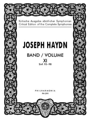 HAYDN - Edition Complete Symphonies Volume 11 93-98 - Score - Partition - di-arezzo.fr