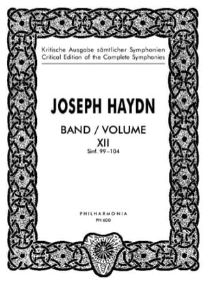 HAYDN - Complete Edition Symphonies Volume 12 99-104 - Score - Partition - di-arezzo.co.uk