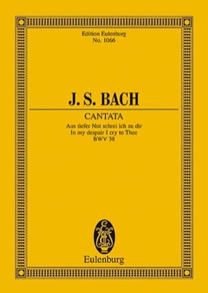 Johann Sebastian Bach - Cantate Aus Tiefer Not Schrei Ich Zu Dir BWV 38 - Partition - di-arezzo.fr