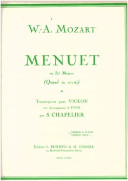 MOZART - Minuet in D major When you smile - Sheet Music - di-arezzo.co.uk