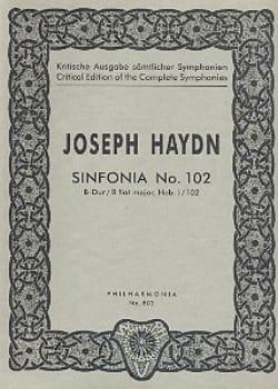 Symphonie Nr. 102 B-Dur Hob. 1 : 102 - Partitur - laflutedepan.com