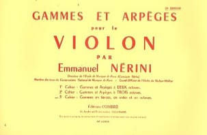 Emmanuel Nerini - Ranges and Arpeggios Volume 3 - Sheet Music - di-arezzo.co.uk