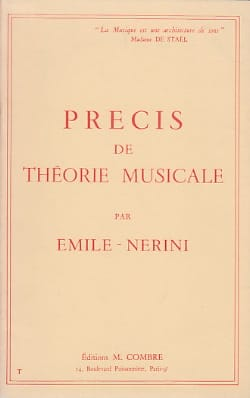 Emile Nerini - Precise musical theory - Sheet Music - di-arezzo.co.uk