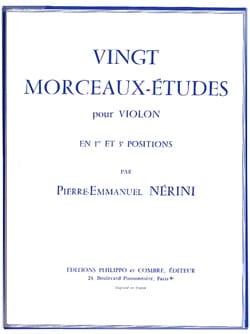 Pierre-Emmanuel Nerini - 20 Morceaux-Etudes - Partition - di-arezzo.fr