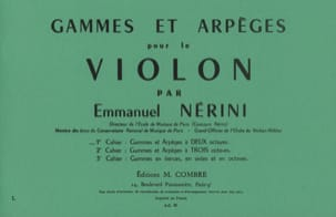Emmanuel Nerini - Ranges and Arpeggios Volume 1 - Partition - di-arezzo.it