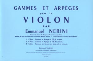 Emmanuel Nérini - Ranges and Arpeggios Volume 2 - Sheet Music - di-arezzo.co.uk