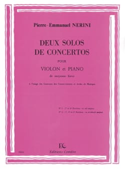 Pierre-Emmanuel Nerini - 2 Solos of Concertos - Sheet Music - di-arezzo.co.uk