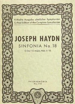 Joseph Haydn - Symphonie Nr. 18 G-Dur Hob. 1 : 18 -Partitur - Partition - di-arezzo.fr