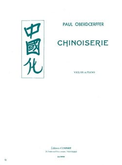 Paul Oberdoerffer - Chinoiserie - Partition - di-arezzo.fr
