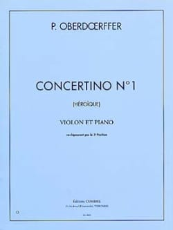 Paul Oberdoerffer - Concertino n ° 1 - Sheet Music - di-arezzo.co.uk
