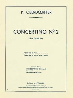 Concertino n° 2 Paul Oberdoerffer Partition Violon - laflutedepan