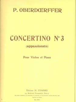 Concertino n° 3 Paul Oberdoerffer Partition Violon - laflutedepan
