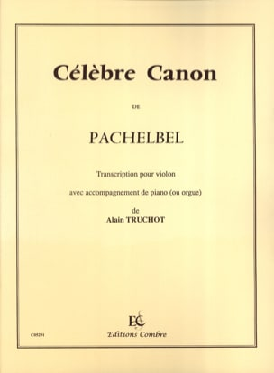 Johann Pachelbel - Famous Canon - Violin - Sheet Music - di-arezzo.co.uk