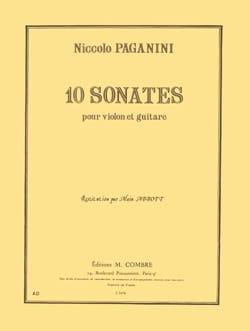 Niccolò Paganini - 10 Sonates - Violon guitare - Partition - di-arezzo.fr