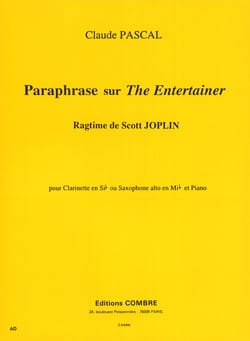 Claude Pascal - Paraphrase sur The Entertainer - Partition - di-arezzo.fr