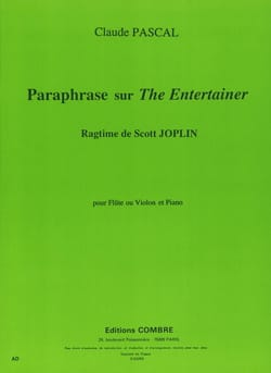 Claude Pascal - Paraphrase sur The Entertainer – Flûte (ou violon) piano - Partition - di-arezzo.fr