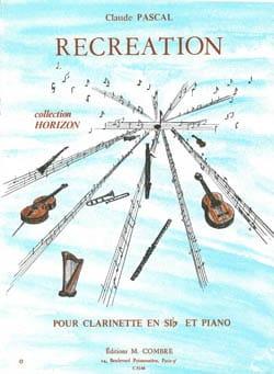 Récréation Claude Pascal Partition Clarinette - laflutedepan