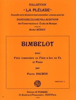 Pierre Paubon - Bimbelot - Flute et Piano - Partition - di-arezzo.fr