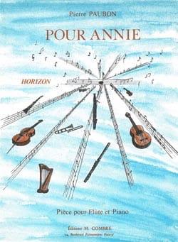 Pierre Paubon - Pour Annie - Partition - di-arezzo.fr