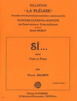 Pierre Paubon - Si ... - Partition - di-arezzo.fr