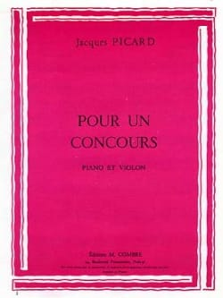 Jacques Picard - For a contest - Sheet Music - di-arezzo.com